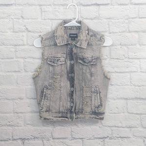 Joe Boxer | Gray Denim Button Front Jacket